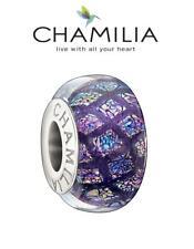 Genuine CHAMILIA 925 silver PURPLE OPULENCE Murano glass charm bead, Halloween