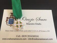 Miniatura Cavaliere Gran Croce Ordine dei Santi Maurizio  Lazzaro in argento 925