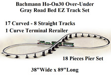 BACHMANN HAWTHORNE HO-ON30 OVER-UNDER FIGURE 8 EZ TRACKS 18 PIER SET TRANSFORMER