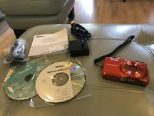 MINT Nikon COOLPIX S6500 16MP Digital Camera Orange +Charger SD Card Manual WiFi