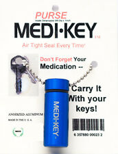PILL BOTTLE KEY CHAIN - LARGE SIZE, MADE IN USA! FREE SHIPPING!