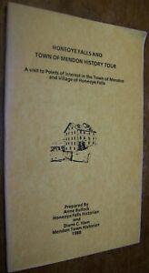 1988 HONEOYE FALLS TOWN MENDON NY HISTORY TOUR PROGRAM BOOK