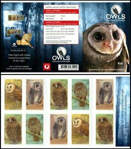2016 Owls -Guardians of the Night $10.00 Booklet - Unfolded