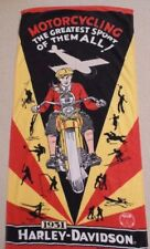 Harley Davidson D DL VL 1931 Motorcycling The Greatest Sport Of All Time Towel