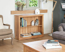 Mobel Oak Low Bookcase - Baumhaus - Solid Oak