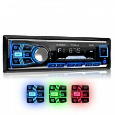 AUTORADIO AVEC BLUETOOTH HAUT-PARLEUR MAINS LIBRES USB SD AUX MP3 SIMPLE 1DIN