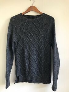 Saba Men's Grey Wool Jumper - Sz XS