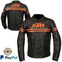KTM black Motorbike Riding Jacket-Motorcycle Leather Racing Jacket