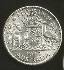 1943 S FLORIN - GEORGE VI - CHOICE UNCIRCULATED  - FULL MINT BLOOM