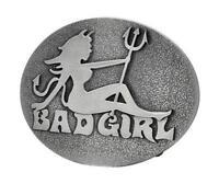 Bad Girl Devil Belt Buckle Skull Belt Buckle Girly Devil for her biker tattoo