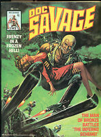 DOC SAVAGE #3 (1976) Marvel Comics B&W magazine VG+/FINE-