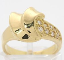 ♦♦18kt 750 Zirkonia Gold Ring breiter Goldring in Gelbgold moderner Fingerring♦♦