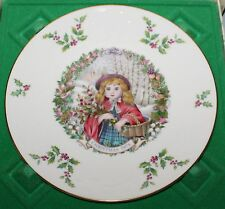 Royal Doulton 1978 Christmas Plate Girl with Basket in Original Box