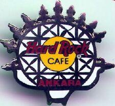 Hard Rock Cafe ANKARA 1999 Hitite Sun Silver/White PIN w/HRC Logo - Catalog #280