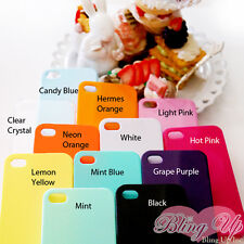 iPhone 4 4s Ultra Thin Glossy Plastic Snap On Cover Fitted Cell Phone Case