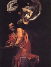 Charming Oil painting male portraits The Inspiration of Saint Matthew with angel