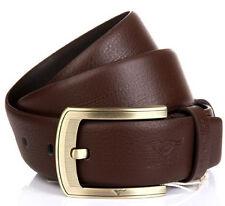 Men Belt  Septwolves Real Genuine Leather Pin Lock Buckle Skin Brown 1207700-x