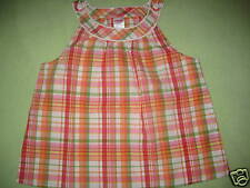 NWT Gymboree Cherry Baby Red Plaid Shirt, Summer Top Girls sz 7