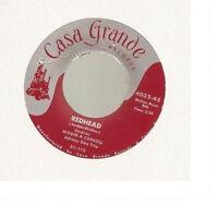 "Wager & Carroll & Johnny Dee Trio - Redhead (7"" Casa Grande) RARE"