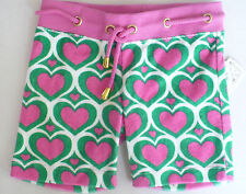 Flowers By Zoe Shorts 24 MO Terrycloth Shorts Pink Hearts Cord Belt Grommets