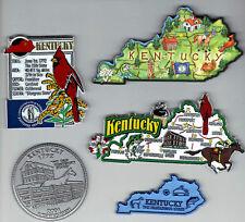 KENTUCKY  JUMBO  STATE  MAP TOURIST MAGNET 7 COLOR  FRANKFORT, LOUISVILLE