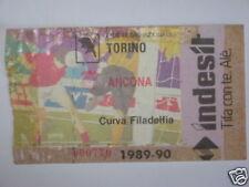 TORINO - ANCONA BIGLIETTO TICKET 1989 / 90