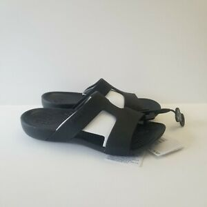Crocs Serena Slides Sandals Shoes Womens Size 4 Black New