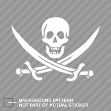 Jolly Roger Calico Jack Rackham Pirate Sticker Die Cut Decal