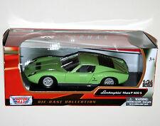Motor Max - LAMBORGHINI MIURA P400S (Green) Model Scale 1:24