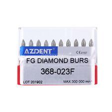 Denal Diamond Burs Tootball #368-023F FINE RED 10Pcs / Pack AZDENT