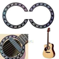Guitar Circle Sound Hole Rosette Inlay Acoustic Guitars Decal Sticker Accessory