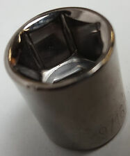 "New 9/16"" USA made chrome plated steel 6 point socket for the 1/4"" drive tools"