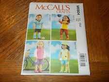 """McCalls Crafts Pattern M6904 ~ 18"""" Doll Sports Outfits ~ Soccer, Softball, More"""