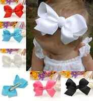 one grosgrain ribbon bow hair clip pin  baby girl flower clips Hair Accessories