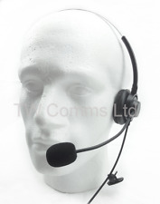 Headset Lightweight for Kenwood 2-Pin Radios with Boom Microphone