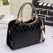 Women Designer Celebrity Handbag Tote Shoulder Bag Ladies Black Leather Style