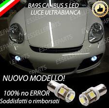 COPPIA LUCI POSIZIONE 5 LED PORSCHE CAYMAN BA9S CANBUS + LED TARGA CANBUS