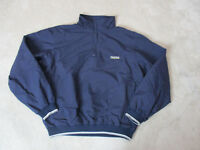 VINTAGE Nautica Sailing Jacket Adult Large Blue Yellow Pull Over Coat Mens 90s