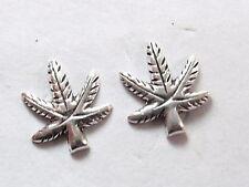 Marijuana Stud Earrings 925 Sterling Silver Corona Sun Jewelry grass pot ganja