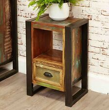 Urban Chic reclaimed wood indian furniture side end lamp table cabinet