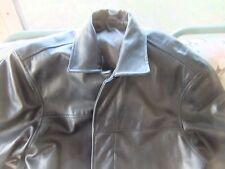 Mens Black Leather Banana Republic coat/jacket size Large