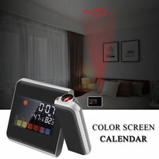 Digital Snooze Alarm Clock Color Display w/ LED Backlight Projection Lcd Weather