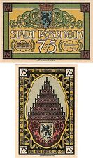 Germany 75 Pfennig 1921 Notgeld Possneck UNC Uncirculated Banknote