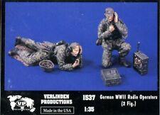 Verlinden Productions 1:35 WWII German Radio Operators 2 Resin Figures Kit #1537