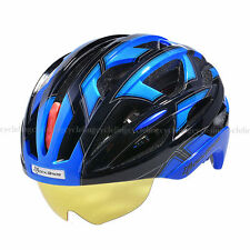 RockBros MTB Road Bike Cycling Helmet L/XL 57cm-62cm Blue with 3 Goggles Lens