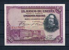 50  PESETS  DE  1928  EBC+  CON TODO SU APRESTO