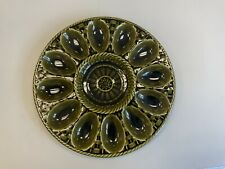 More details for vintage devilled egg mcm mid century retro classic ceramic plate serving tray