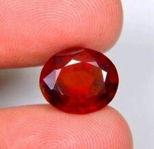 9.0Ct Natural Reddish Hessonite Garnet Oval Cut Cabochon Ring Size Gemstone A12