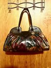 Patricia Nash Leather Lione Satchel Peruvian Painting / Paint $249 Sold Out