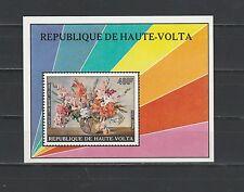 Haute Volta  bloc  fleurs en bouquet 1975  num: BF 5AA **
